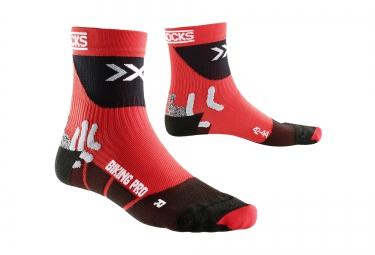 x bionic chaussettes de compression bike pro rouge noir