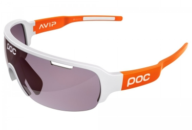 poc lunettes do half blade avip blanc orange violet