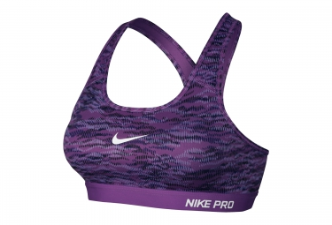 nike brassiere pro classic padded reflect violet femme