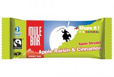 mulebar barre energetique strudel pomme cannelle raisins 40g