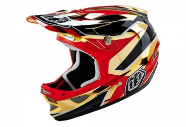 casque integral troy lee designs d3 composite reflex 2016 or rouge