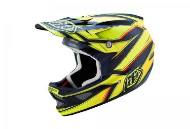 casque integral troy lee designs d3 carbon reflex 2016 jaune noir