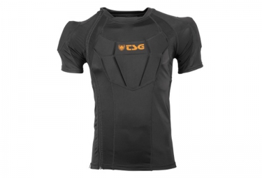tsg veste de protection manches courtes frag advanced d3o noir