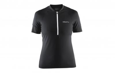 craft maillot femme velo cyklodres noir blanc