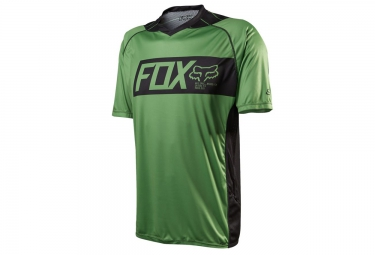 fox maillot manches courtes attack manches courtes vert