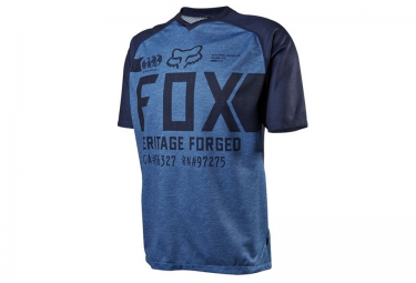 fox maillot manches courtes indicator heather bleu