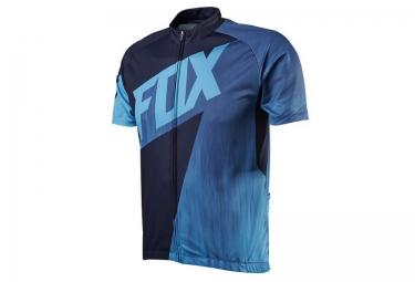 fox maillot manches courtes livewire race bleu