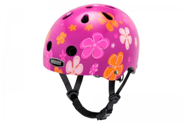 casque bol enfant nutcase baby nutty rose orange