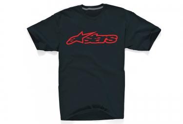 alpinestars t shirt blaze 2 noir rouge