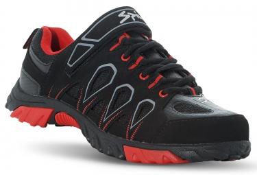 spiuk paire de chaussures vtt linze noir orange