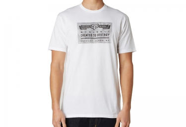 fox tee shirt manches courtes aptitude blanc