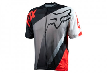 fox maillot manches courtes livewire descent gris rouge