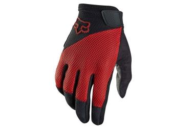 fox paire de gants longs reflex gel rouge