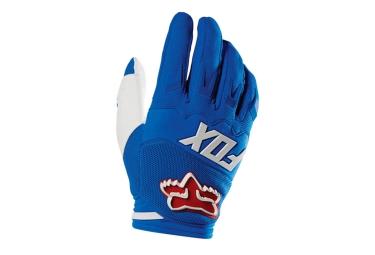 fox paire de gants dirtpaw race bleu rouge