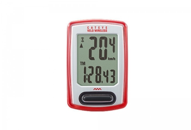 cateye compteur sans fil velo wireless cc vt230w rouge