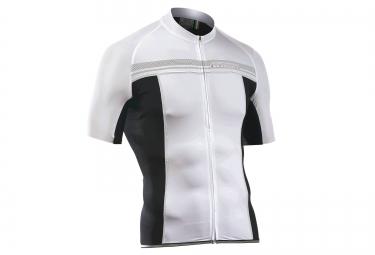 northwave maillot manches courtes evolution blanc noir