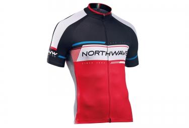 northwave maillot manches courtes logo 2 rouge noir