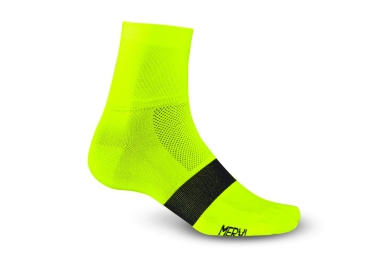 giro paire de chaussettes classic racer jaune fluo