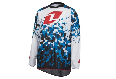 one industries maillot manches longues atom digital camo blanc