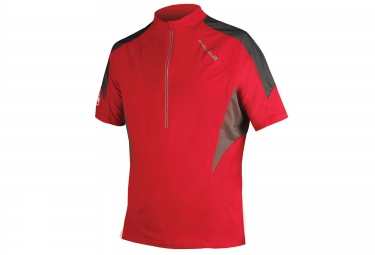 maillot manches courtes endura hummvee lite rouge