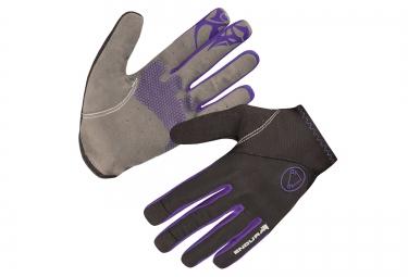 gants longs femme endura singletrack noir violet