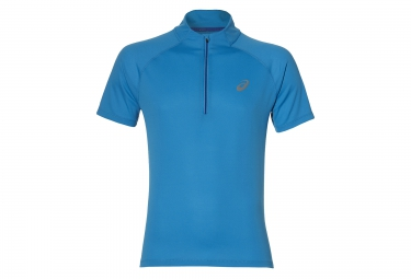 maillot manches courtes asics race bleu