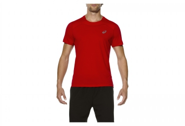 maillot manches courtes asics race rouge
