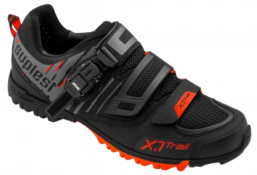 chaussures vtt suplest x 1 trail noir rouge
