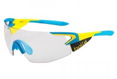 lunettes cyclisme bolle 5th element pro bleu jaune gris