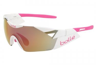 lunettes cyclisme bolle 6th sense s blanc rose rose