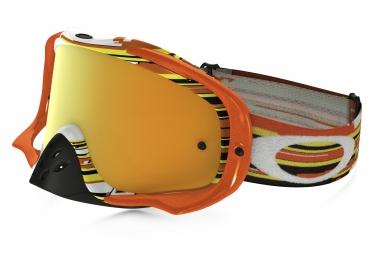 masque oakley crowbar mx orange jaune iridium ref oo7025 25