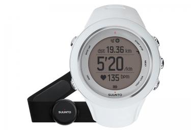 suunto montre gps ambit3 sport hr blanc ceinture cardiaque smart sensor