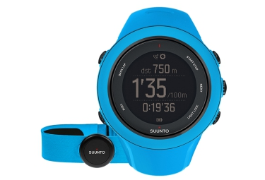 suunto montre gps ambit3 sport hr bleu ceinture cardiaque smart sensor