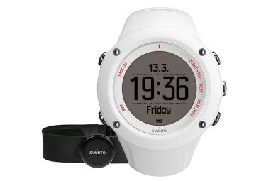 suunto montre gps ambit3 run hr blanc ceinture cardiaque smart sensor