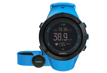 suunto montre gps ambit3 peak hr sapphire bleu ceinture cardiaque smart sensor