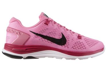 nike chaussures lunarglide 5 rose femme