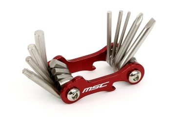 multi outils msc 10 fonctions rouge