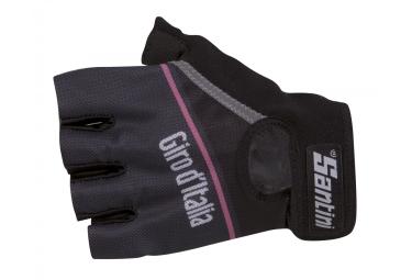 paire de gants santini giro noir rose