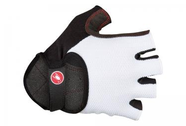 gants courts castelli pista blanc