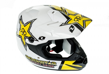 casque integral one industries atom phantom rockstar noir jaune