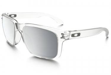 lunettes oakley holbrook transparent chrome iridium ref oo9102 a2