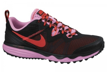 nike chaussures dual fusion trail noir rose femme