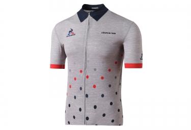 maillot manches courtes le coq sportif pro etape du tour 2016 gris bleu rouge