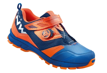 chaussures vtt all mountain northwave mission plus bleu orange
