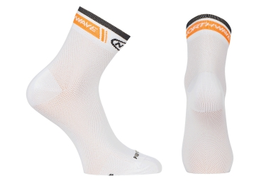 chaussettes northwave logo blanc orange