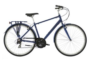 velo de ville raleigh pioneer 1 crossbar shimano revo 18v bleu