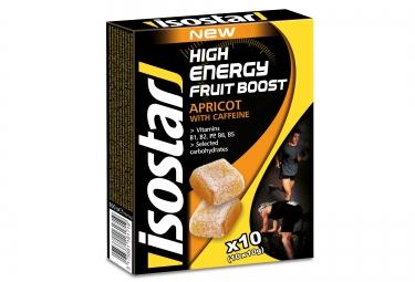 isostar tablettes high energy fruit boost abricot 10x10g