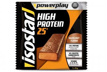 isostar barres proteinees high protein noisette 3x35gr
