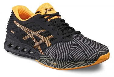 asics fuzex noir orange