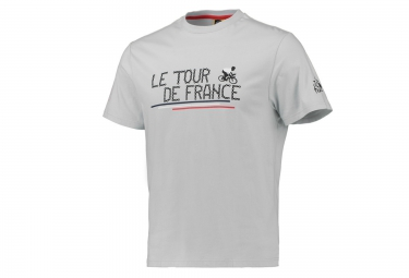 t shirt le tour de france chaine de velo gris
